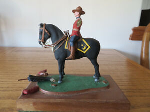 RCMP on Horseback - Metal Miniature