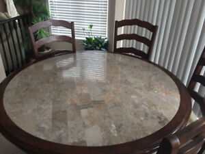 Dinning Table with 6 chairs and hutch buffet