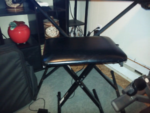 Keyboard stand & bench seat