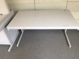 4 x white office desks on clearance at just £35 each