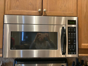GE profile microwave for sale!!