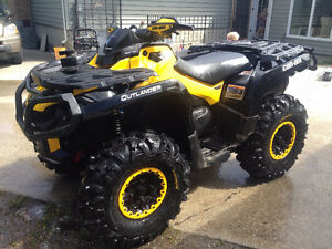 2013 Can-Am Outlander XTP Lifted  New Tires Snow Plow Only 1100k