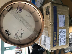 Autographed Yamaha snare drum
