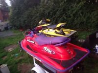 99 seadoo gsx 951cc with trailer 3200.00