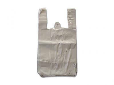 2000 Tragetaschen Plastiktüten Hemdchentragetaschen 12my Tüten 28+14x48cm weiß