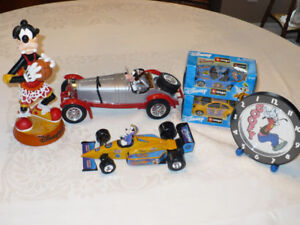 Disney Goofy lot Diecast 1/43 to 1/18 Scale, clock and bobble