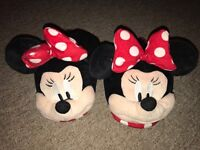 Genuine Disney Minnie Mouse slippers size 5-6