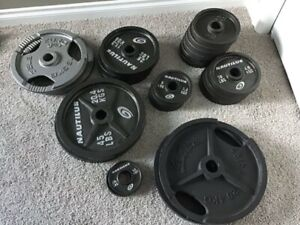 Selection of Olympic Steel Weight Plates