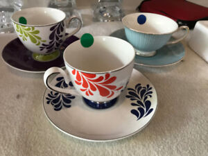 Tea Cups with Saucers