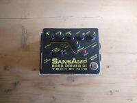 Sansamp bass driver pedal