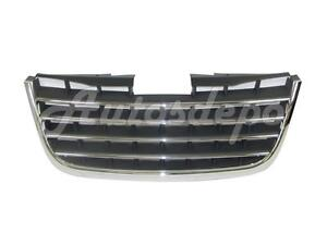 FOR 2008-2010 CHRYSLER TOWN & COUNTRY GRILLE CHROME TRIM WITH DARK GRAY INSERT