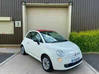 (11) 2011 FIAT 500C Convertible 1.2 Pop 2dr White Manual Ideal First Car Low Mls
