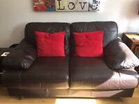 Comfy 2 Seater brown leather couch ***BARGAIN***