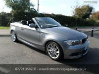 BMW 1 SERIES 118I M SPORT Convertible F.S.H Low Miles Stunning Car, Grey, Manual