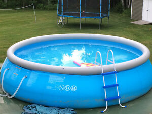 Intex inflatable pool