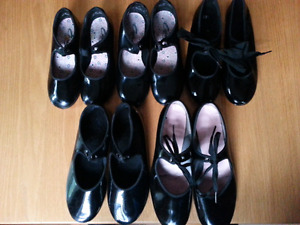 Tap shoes - sizes 12, 13.5, 3, and ? 6.5 or 7