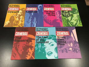 Criminal: Vol. 1 - 7 (By: Ed Brubaker) - (MINT CONDITION)