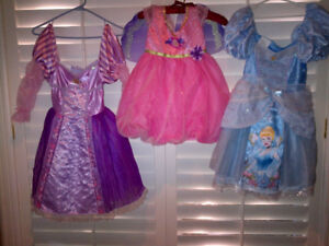 Set of Three Disney & Barbie Dress Up Costumes MINT CONDITION