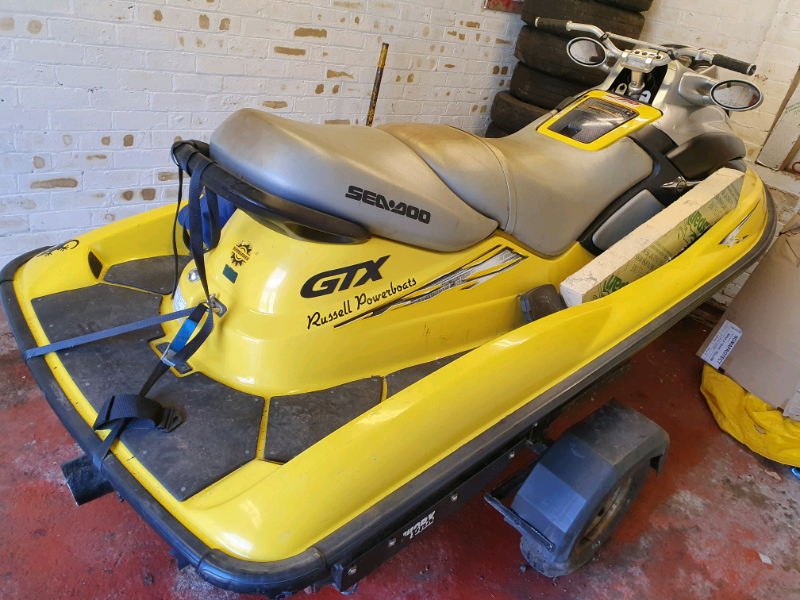 Seadoo BOMBARDIER gtx 951 cc 2 stroke 2002 yellow 3 seater usa Canada | in  Murrayfield, Edinburgh | Gumtree