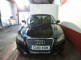 Audi A3 1.6TDI 2010MY Sport**ZERO DEPOSIT FINANCE AVAILABLE ** 12 MONT WARRANTY