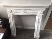 Plaster white solid Georgian Style Fire surround