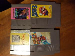 4 cassettes NES