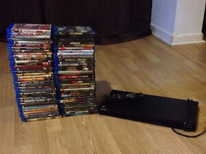 Collection 69 Blu-Ray + Blu-Ray player (lecteur)