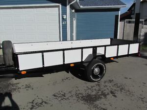 14 Foot Utility Trailer - Fold down tailgate and bolt on ramps