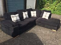 Black corner sofa £120 can deliver for a fee