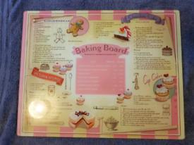 Glass baking board