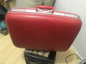 Red Jetline Vintage Luggage, Suitcase