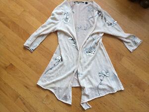 Anthropologie sweater cardigan with sequin embellishment New S Strathcona County Edmonton Area image 1