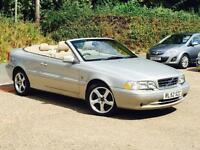 2002 Volvo C70 2.4 T GT Convertible Silver only 70,900 Miles Genuine Mileage Car
