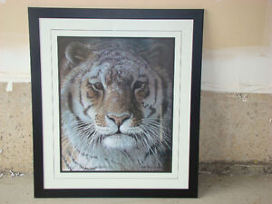 Large Robert Bateman print custom framed