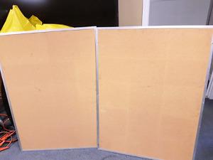 Two 3x5 bulletin boards