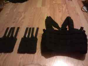 Condor OPS Chest Rig (Airsoft Tactical Vest) + Mag Pouches