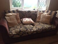 Large 2 seater and single seat sofa with cushions