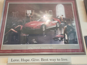 Fiero GT  Matted and Framed Poster.