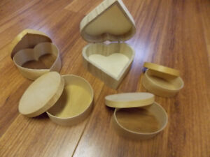 Lot of Lg. Wooden Shapes, Boxes, Paper Mache. Make me an Offer!