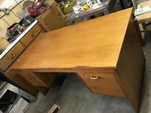 Teak desk and office chair