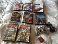 Jeux PS2,wii,manette et memorie card