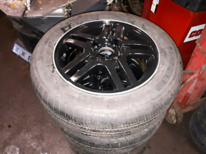 2003 black painted Ford Focus rims with 195/60/15  tires