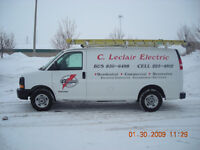 C. LECLAIR ELECTRIC / MASTER ELECTRICIAN / REGISTERED CONTRACTOR
