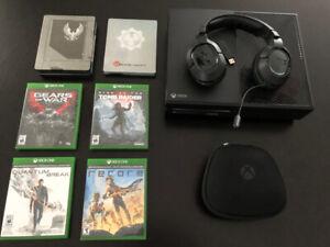Xbox One Élite avec plusieurs jeux.