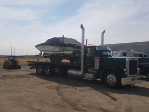 1995 Peterbilt 379 L with roll back deck