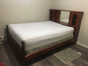 Soft bed and box spring w/ pine bedframe