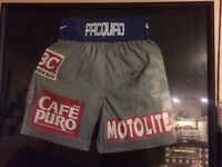Signed and framed Manny Pacquiao shorts