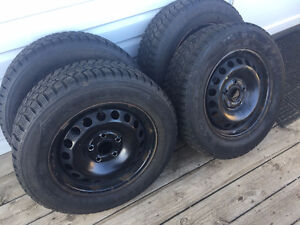 4 Gently Used Winter Tires and Rims for Sale