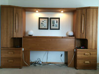 Head board and night stand set