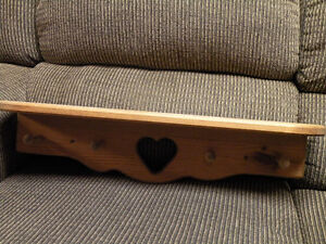 wood shelf with heart shape cut out Cornwall Ontario image 1
